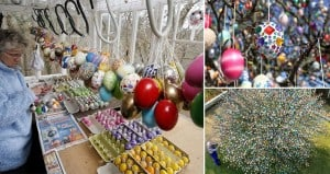 10000 Easter Eggs Tree Germany