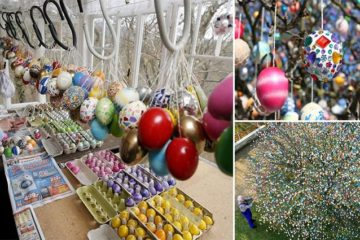 10000 Easter Eggs Tree Germany