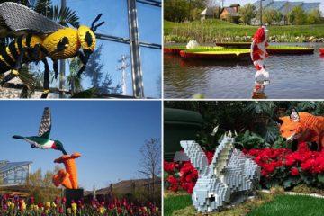 Giant Lego sculptures