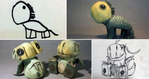 Kids Drawings Clay Sculptures