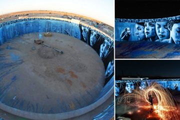 Mural Painted Abandoned Water Tank
