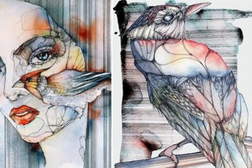 Music Inspired Watercolor And Ink Illustrations