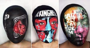 Musician Paints Albums Covers On Face