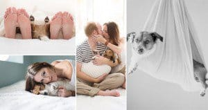 New Born Style Shoot With Dog