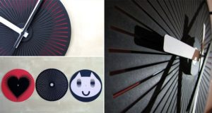 Optical Illusion Wall Clocks