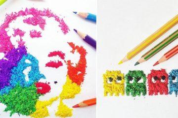 Pencil Shavings art