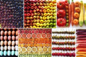 Photographer Ceates Images Of Food Color Gradients