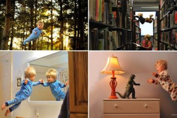 Photographer Photo Series Of Son Flying