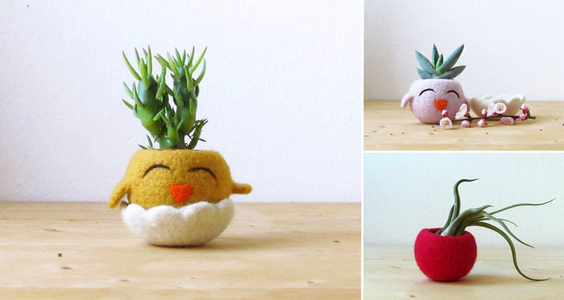 Cute Plant Pots Part - 27: Turn Your Boring Plant Pots Into Cute Animals With These U0027Animal Plantersu0027