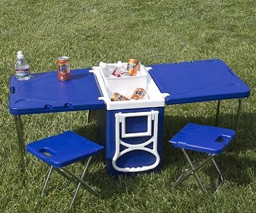 Rolling Picnic Table Cooler