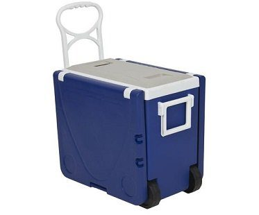 Rolling Picnic Table Cooler blue