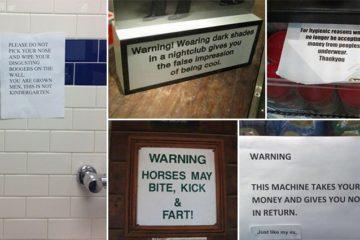 Sarcastic Warning Sign