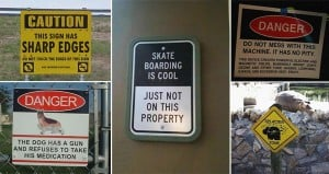 Sarcastic Warning Signs