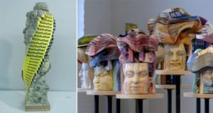 Sculptures From Phone Books