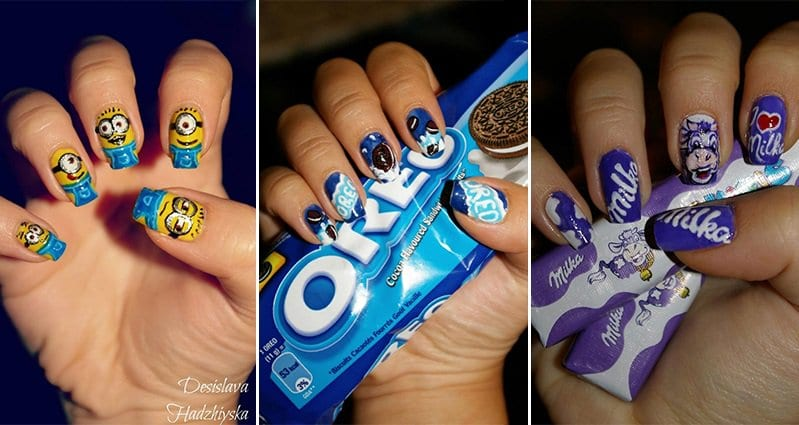 Self taught nail artist paints famous cartoons movies and snacks self taught nail artist paints famous cartoons movies and snacks on to her nails prinsesfo Gallery