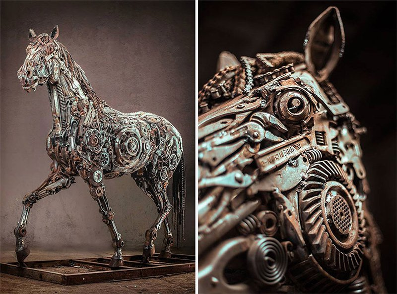 Steampunk Horse Side