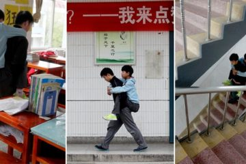 Teen Carries Disabled Classmate