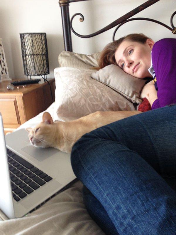 Watching Laptop