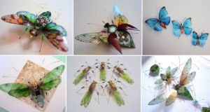 Winged Insects Made From Electronics