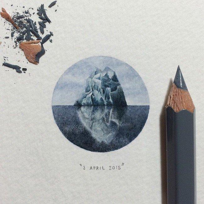 april iceberg tiny painting
