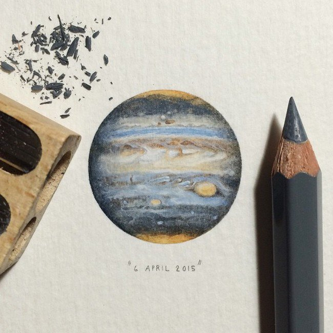 april planet tiny painting lorraine loos