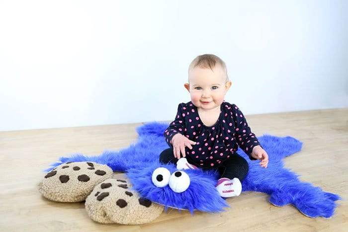 baby cookie monster rug