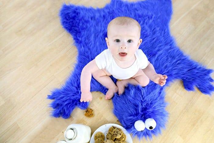 baby milk cookies rug