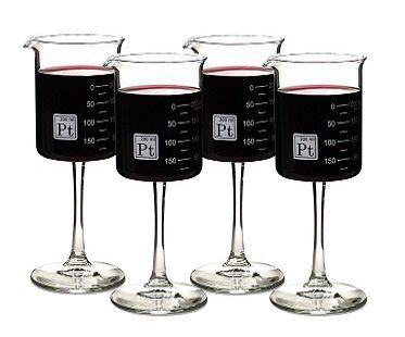 beaker wine glasses laboratory set