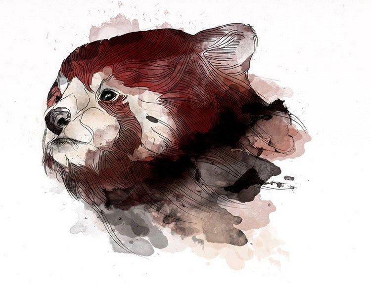Artist Alexandra Laza Creates Magical Animal-Themed Line Art
