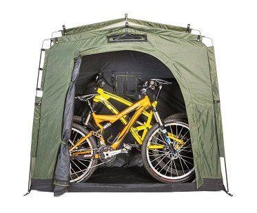 bike storage tent outdoors