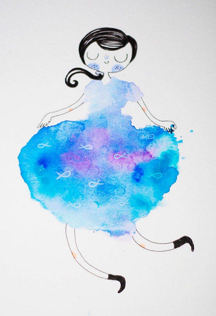 blue blot girl