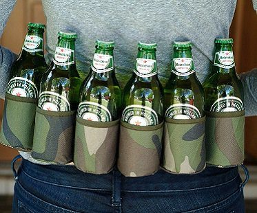 camouflage six pack holster