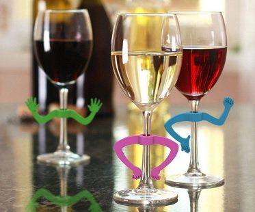 charades wine glass markers