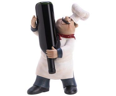 chef wine bottle holder rack