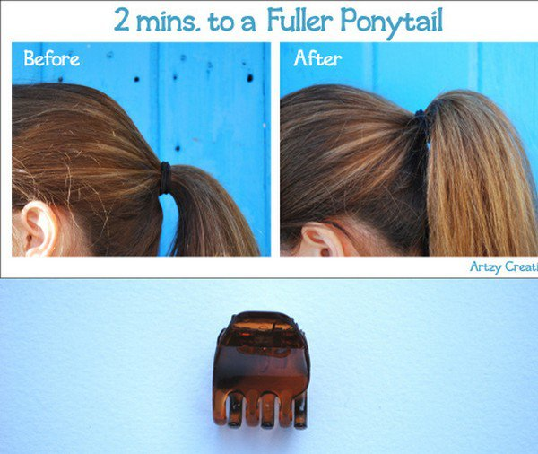 claw clip volume ponytail