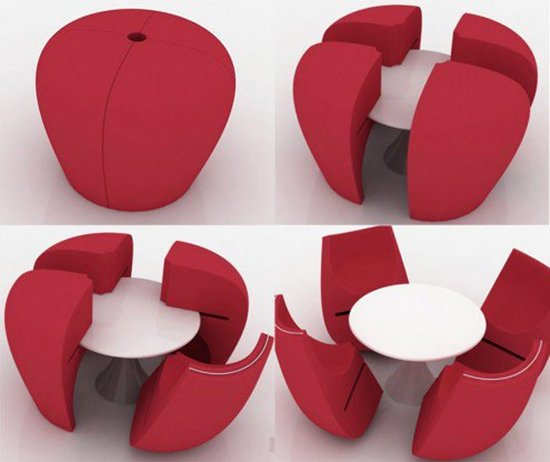 creative-table-and-chairs-red