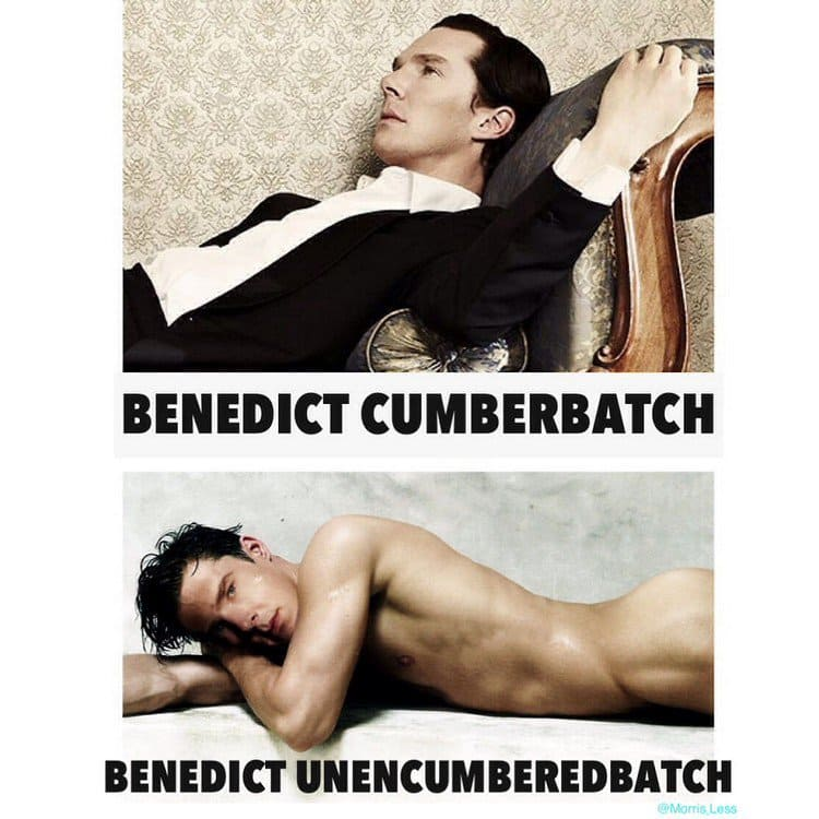 cumberbatch clothed unclothed