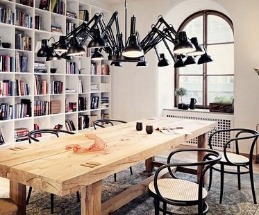 Desk Lamp Chandelier Lights Black
