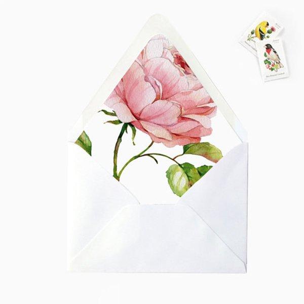 diy-wedding-decorarions-floral-envelope-liners