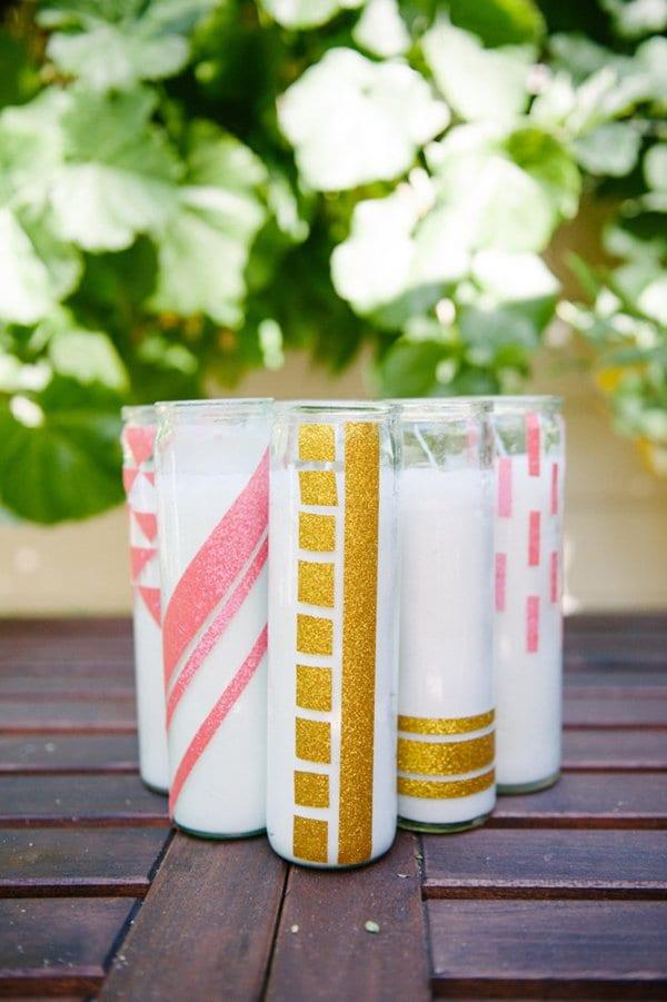 diy-wedding-decorations-glitter-tape