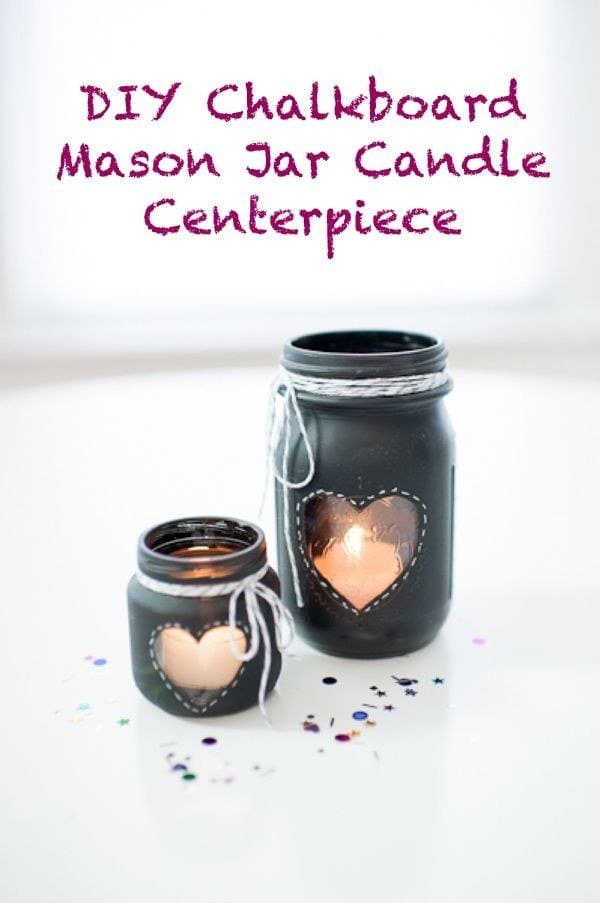 16 creative but simple diy ideas for your wedding for Diy candle jar decorations