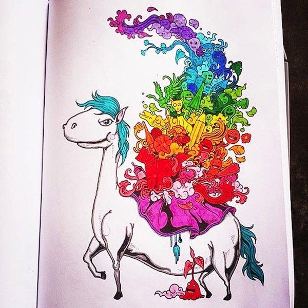 doodle-horse