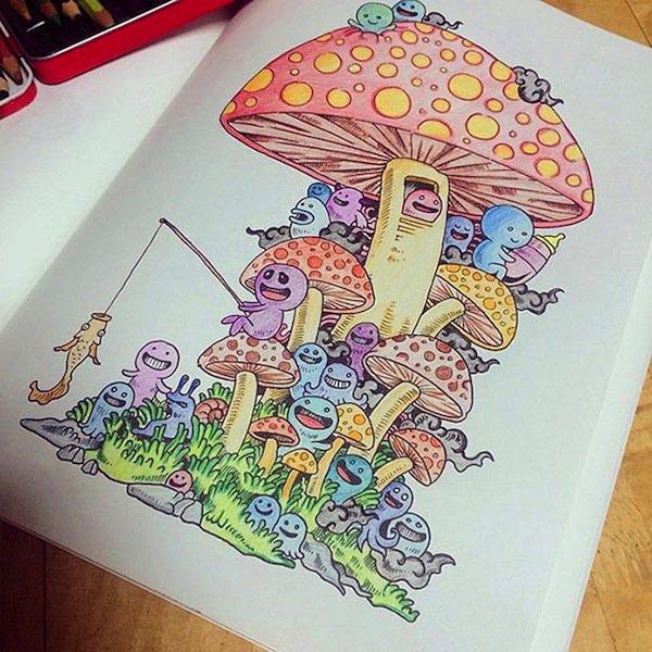 doodle-mushroom