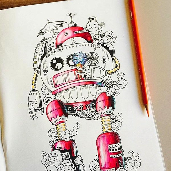 artist kerby rosanes presents  u0026 39 doodle invasion u0026 39  the