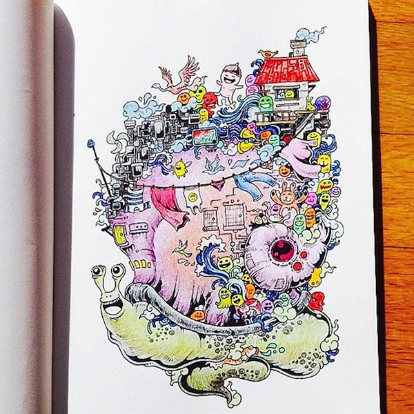 Artist Kerby Rosanes Presents Doodle Invasion The