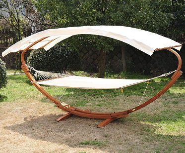 double hammock swing frame garden