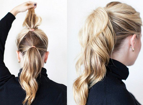 double ponytail blond