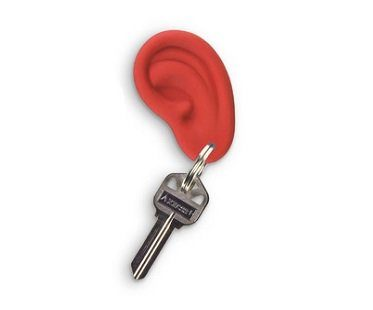 ear key ring red