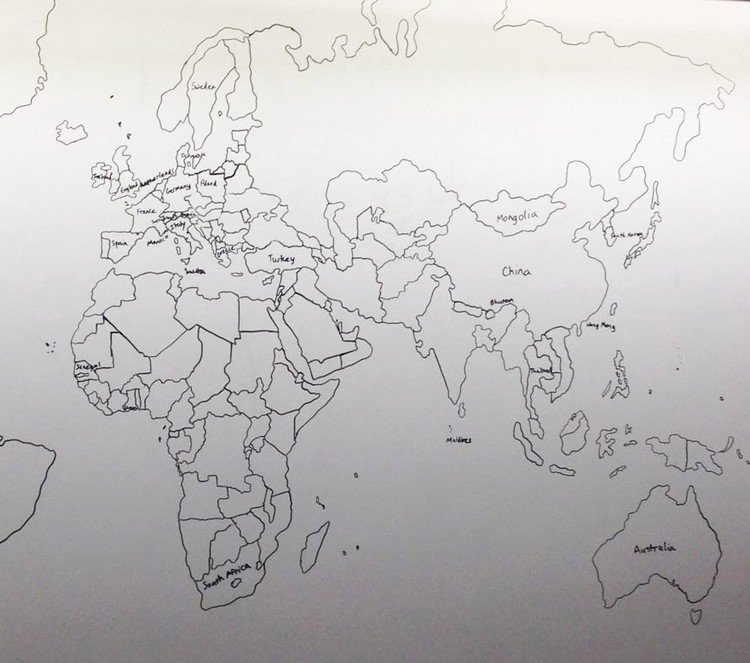 11 year old boy with autism drew the world map using just his memory europe china map gumiabroncs Image collections