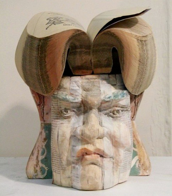 face hair chen sculpture